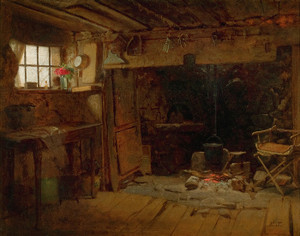 Art Prints of New England Kitchen by Eastman Johnson
