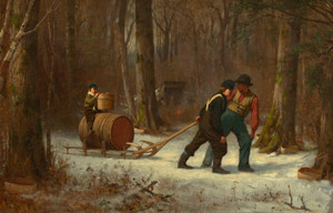 Art Prints of On Their way to Camp by Eastman Johnson