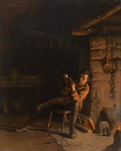 Art Prints of The Boyhood of Lincoln, an Evening in the Log Hut by Eastman Johnson