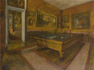 Art Prints of Billiard Room at Menil Hubert by Edgar Degas