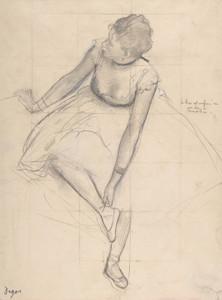 Art Prints of Dancer Adjusting her Slipper by Edgar Degas