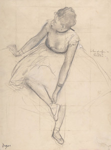 Art Prints of Dancer Adjusting her Slipper by Edgar Degas