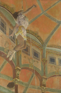 Art Prints of Miss La La at the Cirque Fernando by Edgar Degas