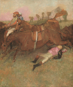 Art Prints of Scene from the Steeplechase, the Fallen Jockey by Edgar Degas