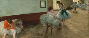 Art Prints of The Dance Lesson by Edgar Degas
