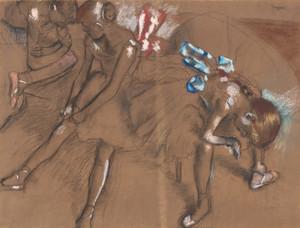 Art Prints of Three Dancers Resting by Edgar Degas
