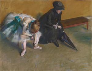 Art Prints of Waiting by Edgar Degas