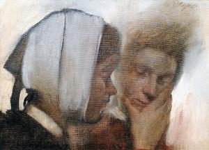 Art Prints of Washerwomen by Edgar Degas