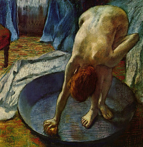Art Prints of Woman in the Bath Tub by Edgar Degas