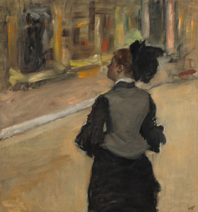 Art Prints of Woman Viewed from Behind, a Visit to the Museum by Edgar Degas