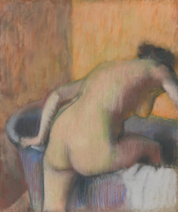 Art Prints of Bather Stepping into a Tub by Edgar Degas