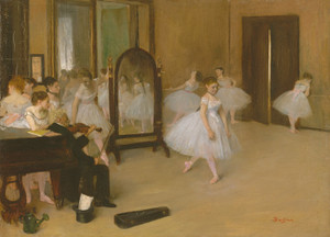 Art Prints of The Dancing Class by Edgar Degas