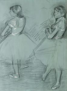Art Prints of Two Dancers by Edgar Degas