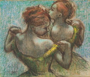 Art Prints of Two Dancers, Half Length by Edgar Degas