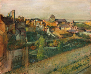 Art Prints of View of Saint-Valery-sur-Somme by Edgar Degas