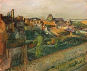 Art Prints of View of Saint-Valery-sur-Somme by Edgar Degas