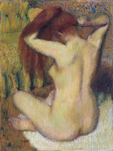 Art Prints of Woman Combing Her Hair by Edgar Degas