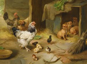 Art Prints of Farmyard Offspring II by Edgar Hunt