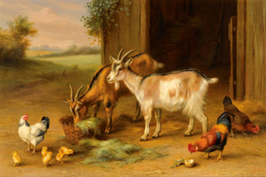 Art Prints of Farmyard Scene I by Edgar Hunt