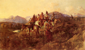 Art Prints of Lost Trail by Edgar Paxson
