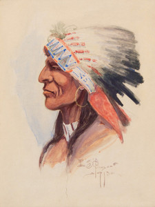 Art Prints of Portrait of a Chief by Edgar Paxson