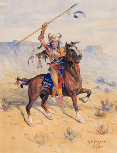 Art Prints of The Charge by Edgar Paxson
