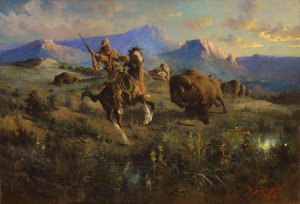 Art Prints of Buffalo Hunt II by Edgar Paxson