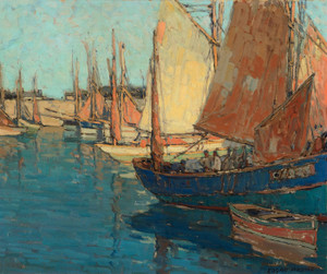 Art Prints of Brittany Boats II by Edgar Payne