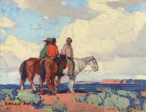 Art Prints of Navajos, Monument Valley by Edgar Payne