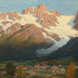 Art Prints of Peaks of Argentiere by Edgar Payne
