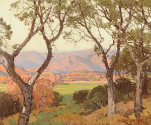 Art Prints of Vista Through the Sycamores Ojai Valley by Edgar Payne