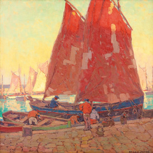 Art Prints of Sardine Boats at Douarnenez by Edgar Payne