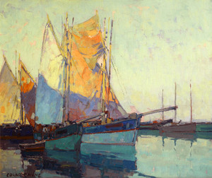 Art Prints of Sailboats at Anchor by Edgar Payne