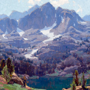 Art Prints of Mt. Ritter and Lake Ediza by Edgar Payne