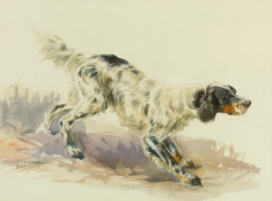 Art Prints of A Setter at Work by Edmund Henry Osthaus