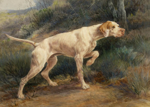 Art Prints of Pointer in a Landscape by Edmund Henry Osthaus