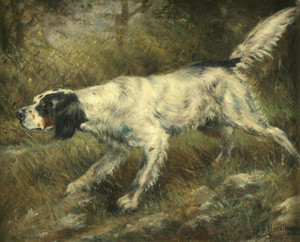 Art Prints of English Setter on Point by Edmund Henry Osthaus