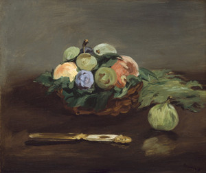 Art Prints of Basket of Fruit by Edouard Manet