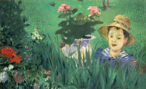 Art Prints of Boy in Flowers by Edouard Manet