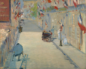 Art Prints of The Rue Mosnier with Flags by Edouard Manet