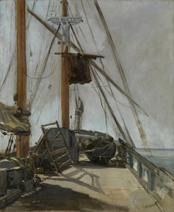 Art Prints of The Ship's Deck by Edouard Manet