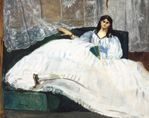 Art Prints of Woman with a Fan by Edouard Manet
