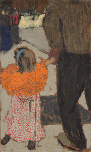 Art Prints of Child Wearing a Red Scarf by Edouard Vuillard