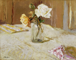 Art Prints of Roses in a Glass Vase by Edouard Vuillard