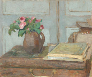 Art Prints of The Artist's Paint Box and Moss Roses by Edouard Vuillard
