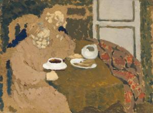 Art Prints of Two Women Drinking Coffee by Edouard Vuillard