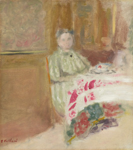 Art Prints of Madame Vuillard at the Table by Edouard Vuillard