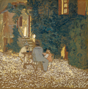 Art Prints of Repast in the Garden by Edouard Vuillard