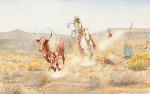 Art Prints of End of the Chase by Edward Borein