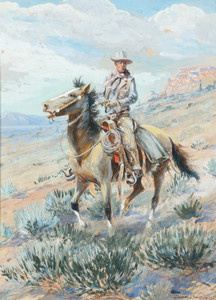 Art Prints of The Trail Boss Patch Hinton by Edward Borein